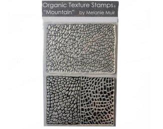 Melanie Muir Organic texture stamp Mountain
