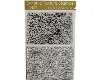 Melanie Muir Organic texture stamp Hill