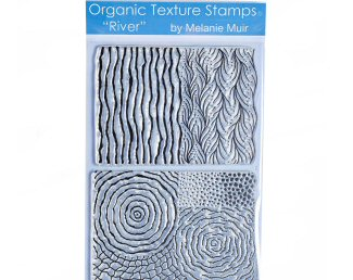 Melanie Muir Organic texture stamp River