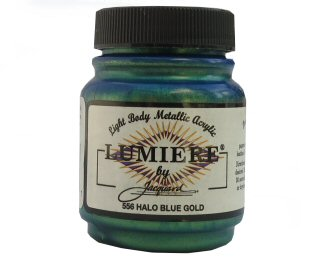 Lumiere halo blue gold 556