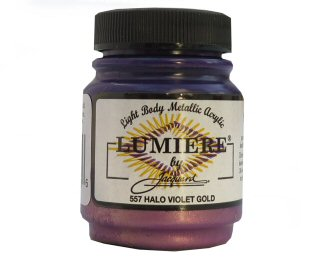 Lumiere halo violet gold