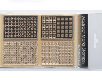 Melanie Muir organic texture stamp squares and crosses