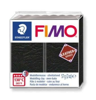 Black Fimo Leather Effect-909
