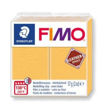 Saffron Yellow Fimo Leather Effect-109