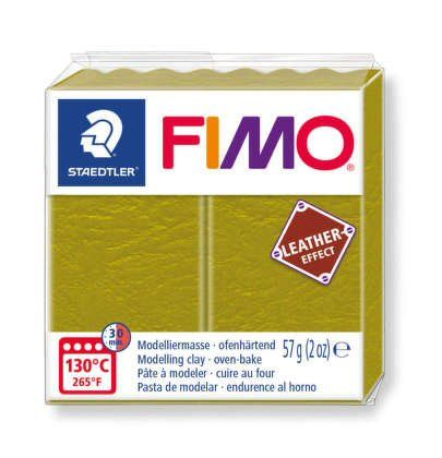 Olive Fimo Leather Effect