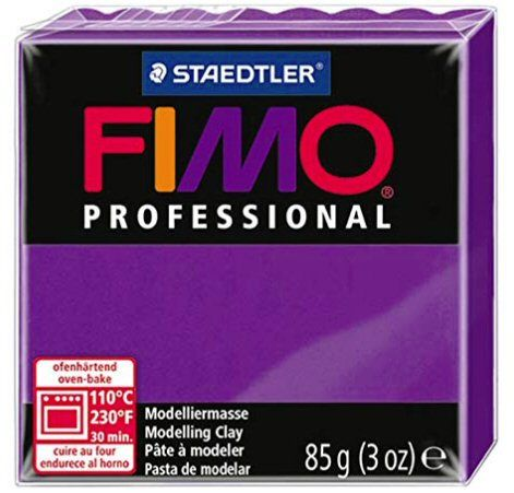 Purple (lilac) - 6 Fimo