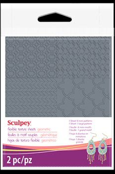 Sculpey texture sheet geometric