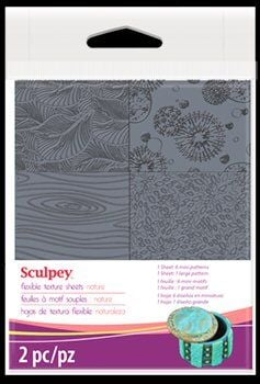 Sculpey texture sheet nature