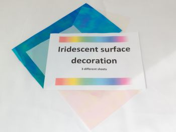 Iridescent sheets