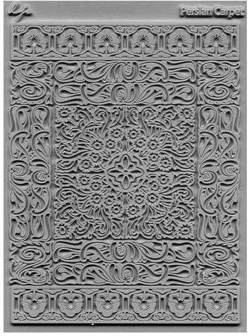Lisa Pavelka texture stamp Persian Carpet