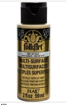 Gold Multi-surface acrylic paint by Plaid
