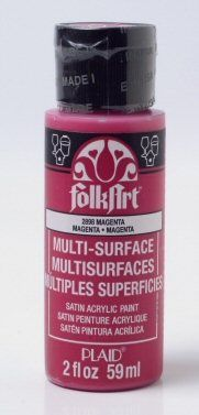 Magenta multi-surface acrylic paint by Plaid