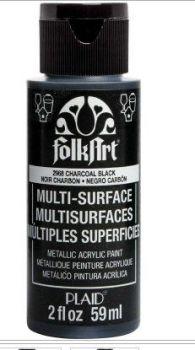 Charcoal black multi-surface acrylic paintby Plaid