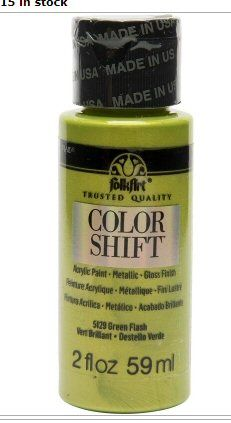 Green flash colour shift acrylic paints by Plaid