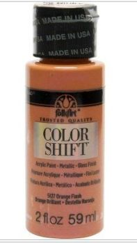 Orange flash colour-shift acrylic paints by Plaid