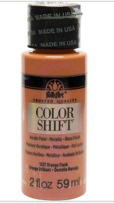 Orange flash colour-shift acrylic paints by Plaid