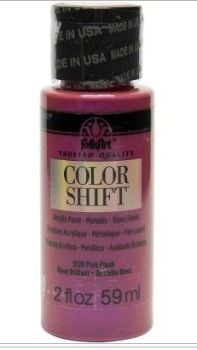 Pink Orchid Flash colour shift acrylic paints by Plaid