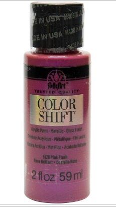 Pink Flash colour shift acrylic paints by Plaid