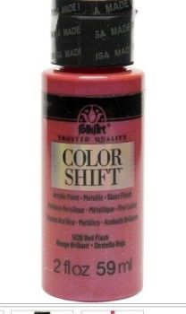 Red flash colour-shift acrylic paint by Plaid