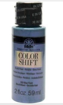 Blue flash colour-hift acrlic paints by Plaid