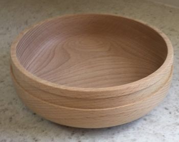 Wooden bowl 17.5cm approx