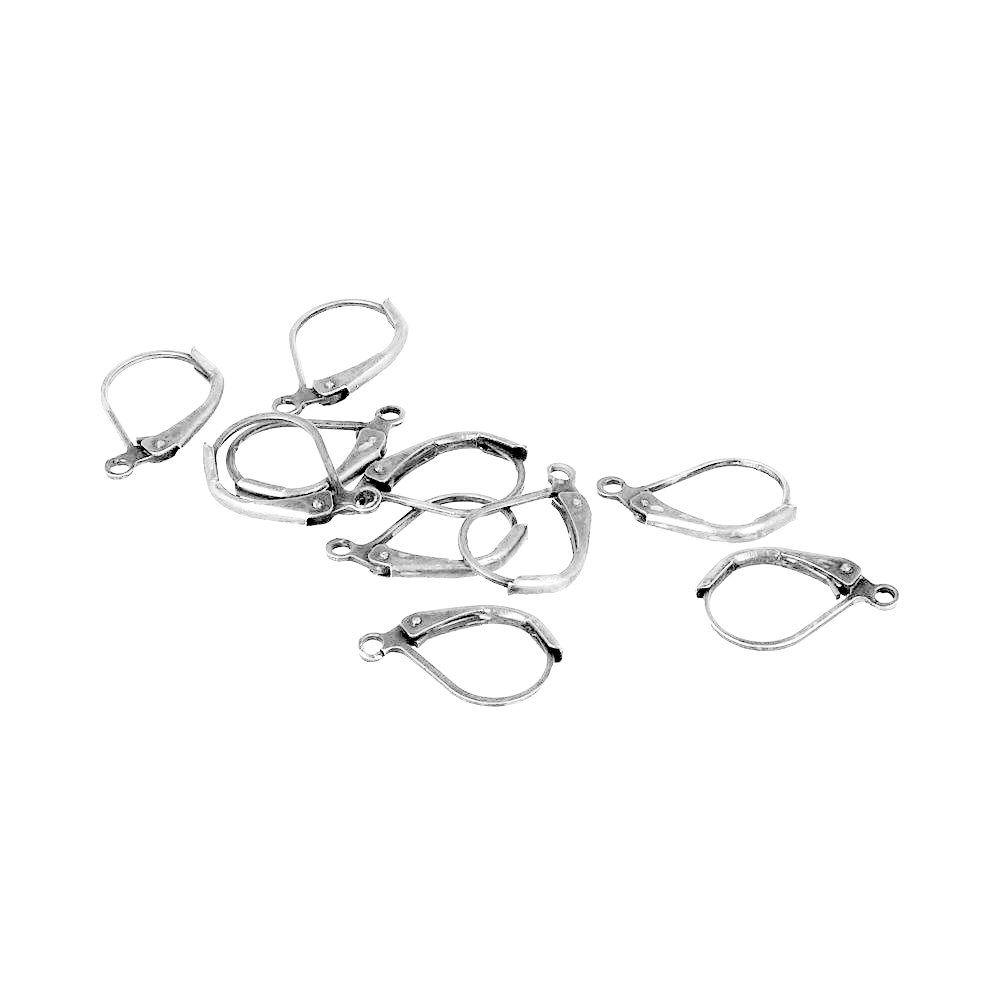 Lever backed ear hooks