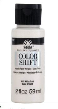 White Flash Colour-shift acrylic paints by Plaid