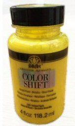 Yellow Flash colour-shift acrylic paint by Plaid 4oz