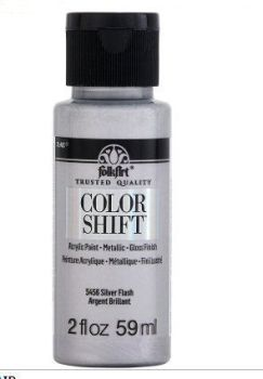 Silver flash colour-shift acylic paint by Plaid