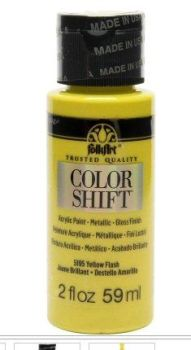 Yellow flash colour-shift acrylic paints by Plaid