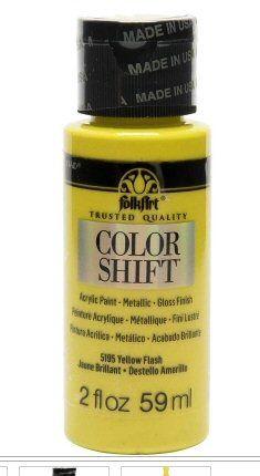 White flash colour-shift acrylic paints by Plaid