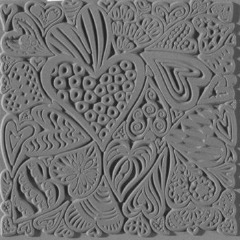 Hearts texture stamp