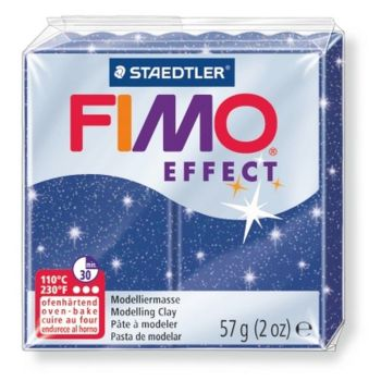 Glitter blue - 302 Fimo