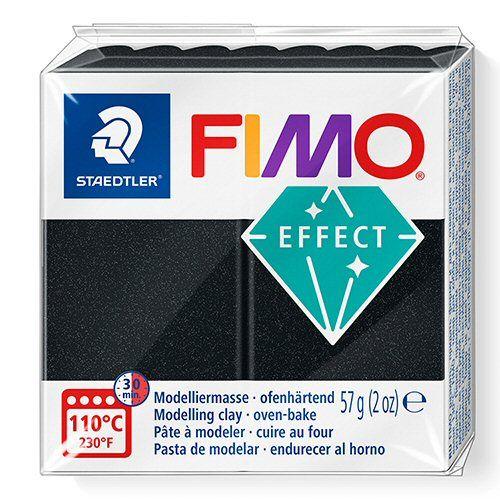 Fimo Pearl Black -907 Effect