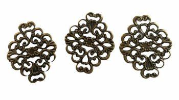 Antique bronze classic inserts - C16