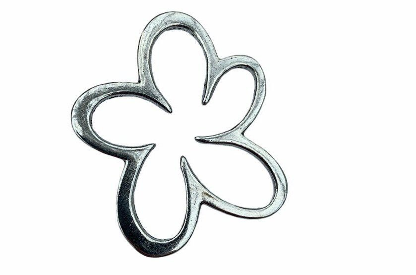 silver style flower shape