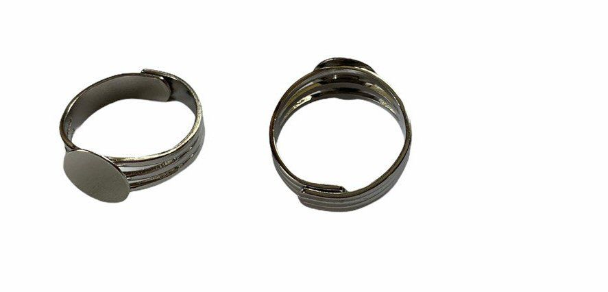 3 bar silver style ring