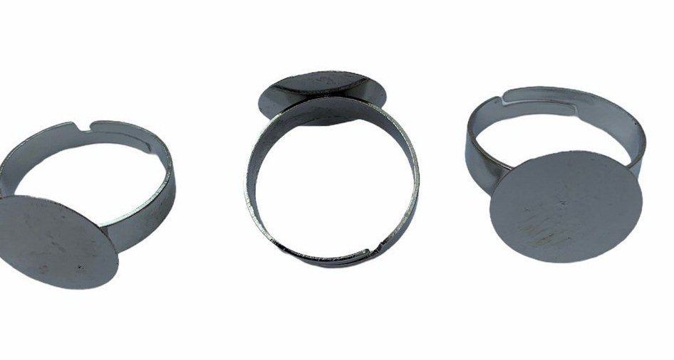 silver style flat tray rings