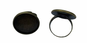 bronze bezel tray rings