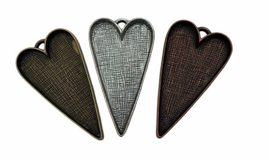 Long heart bezel tray