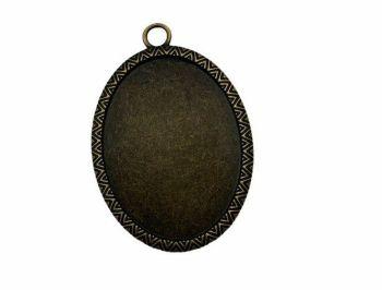 bronze  style oval bezel tray - B5