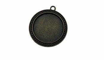 patterned Bronze   style round bezel tray