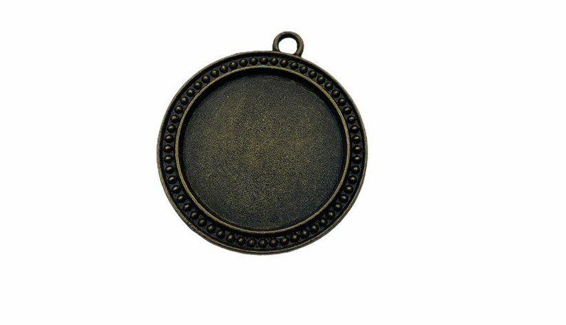 Bronze round bezel tray