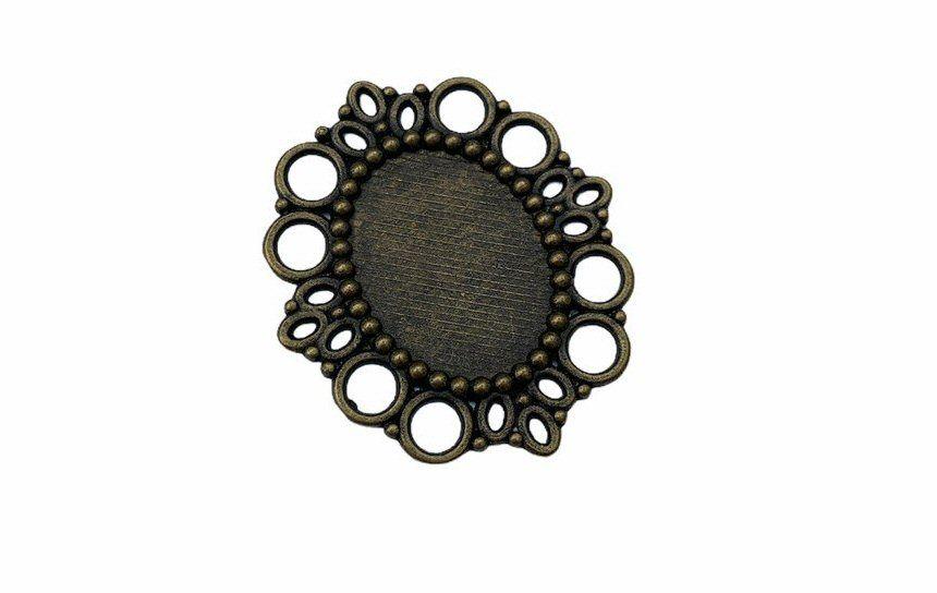 bronze oval connector bezel