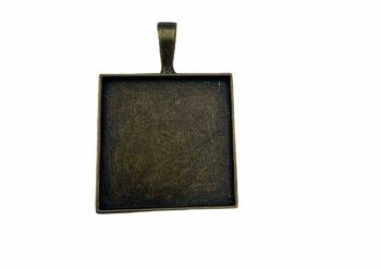 bronze  style square bezel tray - B8