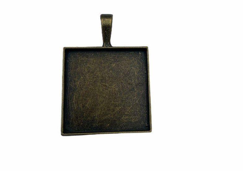 bronze square bezel tray