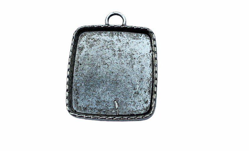 Silver style bezel frame