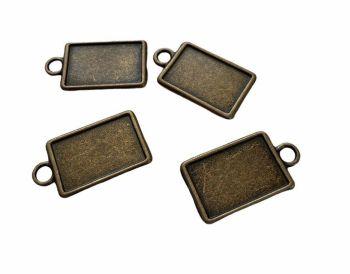tiny bronze style rectangular bezels - A4