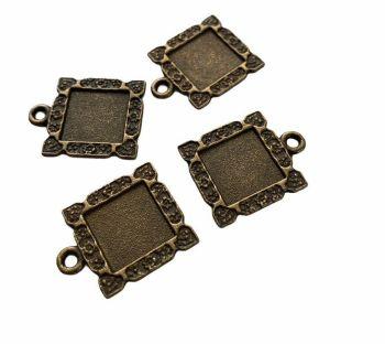 tiny bronze syle patterned bezels A6