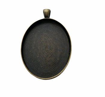 bronze  style oval plain bezel - B7
